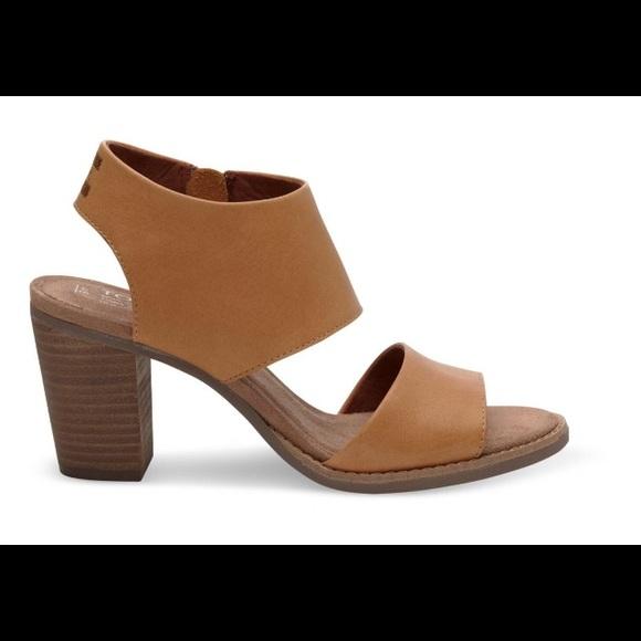 2a18bb1600 Toms Shoes | Tan Leather Majorca Cut Out Sandal New 8 12 | Poshmark